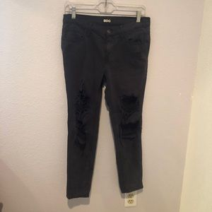 BDG distressed black jeans